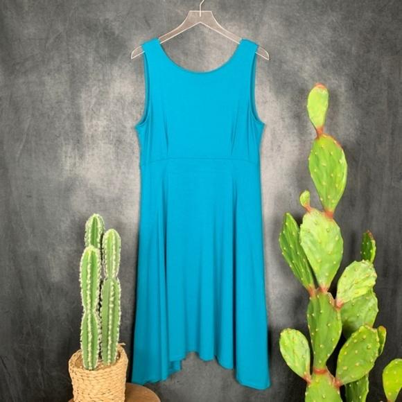 Eileen Fisher Dresses & Skirts - Eileen Fisher Teal Viscose Blend Tank Dress B040